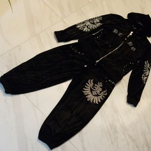 Black Velour 2pc BY BCBG in GREAT CONDITION.